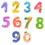 Numbers like monsters Royalty Free Stock Image