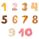 Numbers Like Sweets And Buns Stock Images