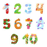 Numbers like symbols of the Christmas Stock Photos