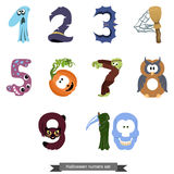 Numbers like symbols of the Halloween Royalty Free Stock Image