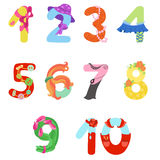 Numbers like woman symbols Royalty Free Stock Images