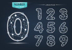 Numbers logo or icon, technology network concept Stock Images