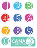 Numbers Logo Stock Photography