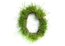 Numbers made of grass Royalty Free Stock Images