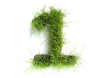 Numbers made of grass Royalty Free Stock Photos