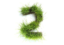 Numbers made of grass Stock Images