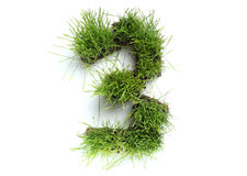 Numbers made of grass Stock Photos