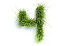 Numbers made of grass Stock Photo