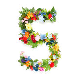 Numbers made of leaves & flowers. Numbers made of leaves and flowers Stock Photo