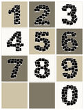 Numbers made from photo frames, insert your photos Stock Photography