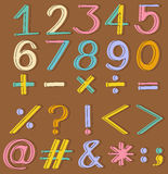 Numbers and mathematical operations Stock Image