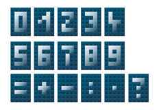 Numbers and mathematical symbols Royalty Free Stock Images