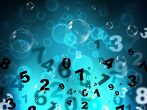 Numbers Mathematics Shows High Tec And Numerical. Numbers Digital Meaning High Tec And Electronic Royalty Free Stock Image