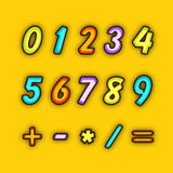 Numbers with maths symbol. Royalty Free Stock Photos