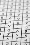 Numbers matrix on paper Royalty Free Stock Photography