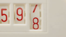 Numbers stock footage
