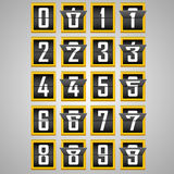 Numbers from Mechanical Scoreboard Alphabet Royalty Free Stock Photo