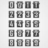 Numbers from Mechanical Scoreboard Alphabet Stock Photo