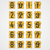 Numbers from Mechanical Scoreboard Alphabet Royalty Free Stock Image