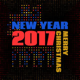 Numbers 2017 Memphis style Stock Images