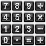 Numbers metal icons Stock Image
