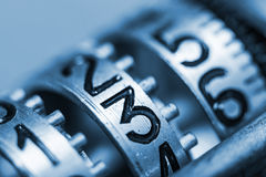 Numbers of metal with very little depth of field Stock Photography