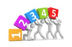 Numbers metaphor. Teamwork Royalty Free Stock Images