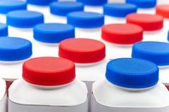 Numbers of milk bottles Royalty Free Stock Image