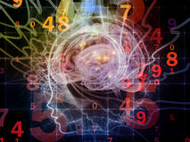 Numbers of the Mind Stock Image