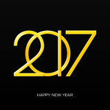 2017 numbers of new year on black gradient background. 2017 Happy New Year. 2017 numbers on black gradient background. 2017 inscription vector illustration with Royalty Free Stock Photography