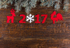 Numbers of the new year Royalty Free Stock Image