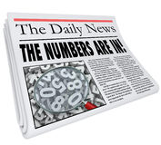 Numbers are In Newspaper Headline Quarterly Monthly Annual Resul. The Numbers Are In words in a newspaper headline to illustrate an important update or alert Royalty Free Stock Photography