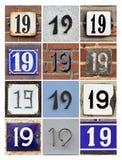 Numbers Nineteen Stock Image
