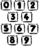 Numbers on note paper Royalty Free Stock Image
