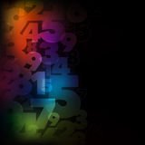 Numbers Number Background. A colourful abstract flowing background with floating numbers stock illustration