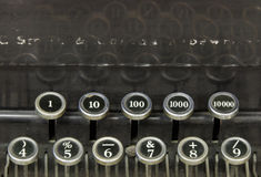 Numbers on an old typewriter Stock Photos