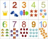 The numbers from one to ten Stock Image