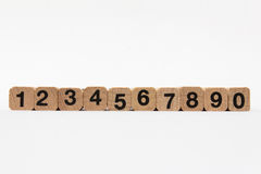 Numbers, one to ten isolated on white background royalty free stock images