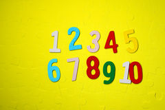 Numbers one to ten Royalty Free Stock Photo