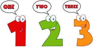 Numbers One,Two And Three Stock Photo