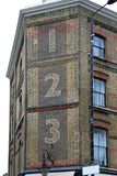 123 Numbers. 123 One Two Three Numbers at Brick House in London Royalty Free Stock Image
