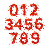 Numbers. Origami paper bird on abstract background Stock Photography