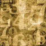 Numbers over Grunge Background Royalty Free Stock Photo