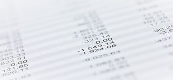 Numbers on paper Royalty Free Stock Photo