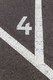 Numbers in a parking lot Royalty Free Stock Image