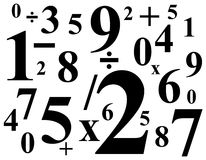Numbers pattern Stock Photos