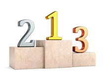 Numbers on pedestal Stock Photo