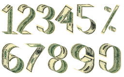 Numbers and percent from dollars Royalty Free Stock Images