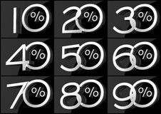 Numbers with percent symbol Royalty Free Stock Photos