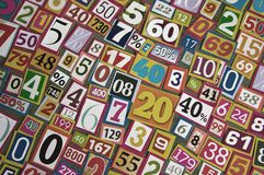 Numbers and percentages Stock Photos